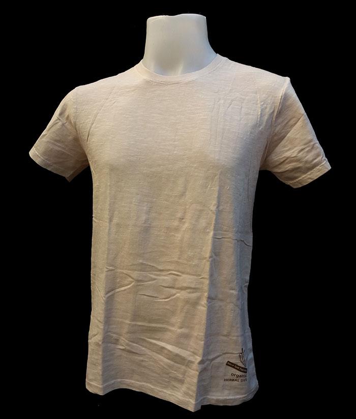 ORGANIC & HERBAL DYE / T-shirt – Nut Cream