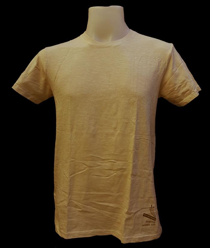 ORGANIC & HERBAL DYE / t-shirt – light haldi yellow